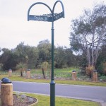 Decorative street sign pole
